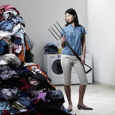 Sort and conquer mountainous laundry piles before going near the front-loading washer.