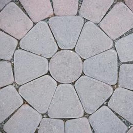 Circles and half-circles can also be made with specialized, premeasured paver kits.