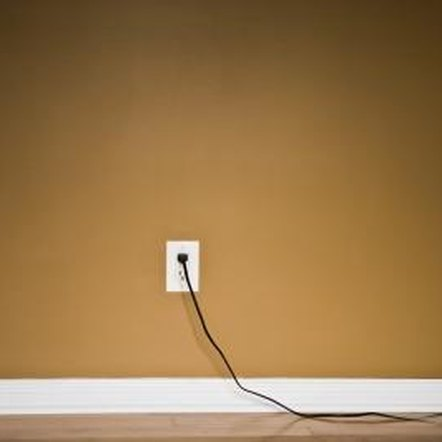 A power cord running across your floor can be a tripping hazard.