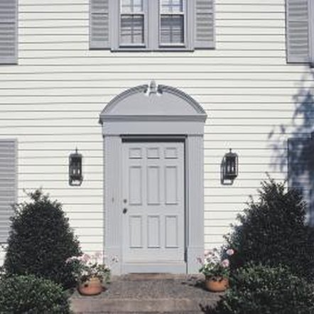 A strong exterior door provides a defense against intruders.