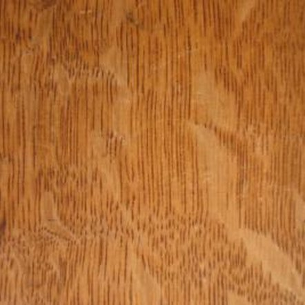 Quartersawn oak reveals attractive ray patterns invisible in other cuts.