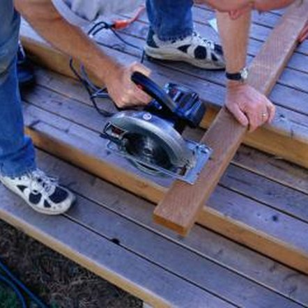 Cut the inside joists to size using a circular saw.