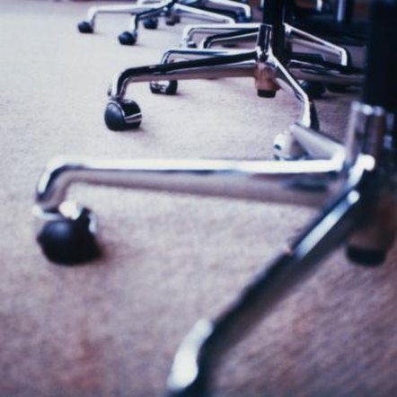 A chair mat lets chairs move more easily over carpet and prevents them from scratching hard floors.