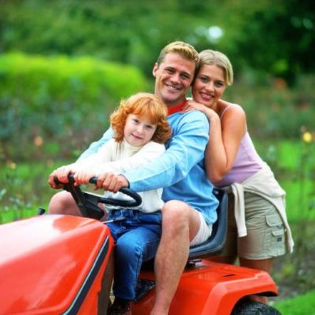 A riding mower might be more suitable for a large property.