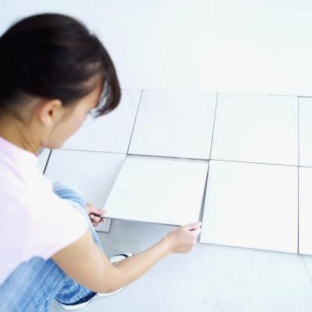 Testing a tile layout can help lead to fewer and more accurate cuts.