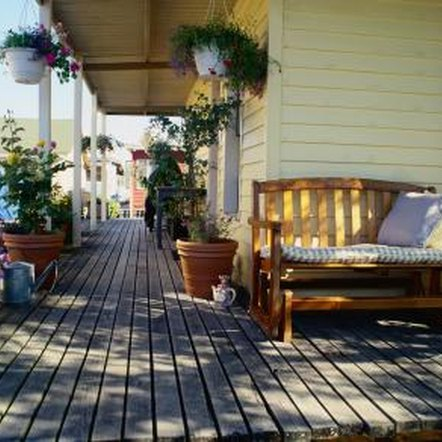 A cedar deck can last a lifetime if properly maintained.