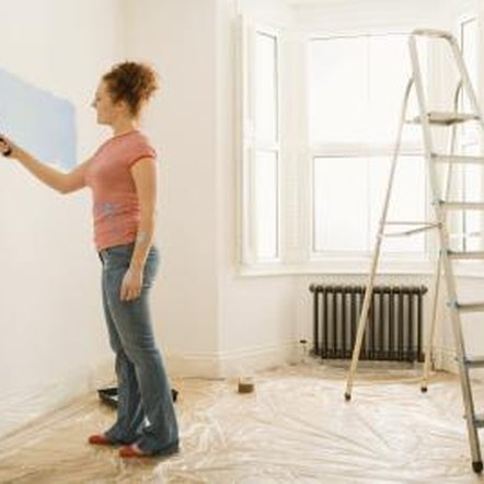 High-gloss latex paint is often easier to apply with a roller.