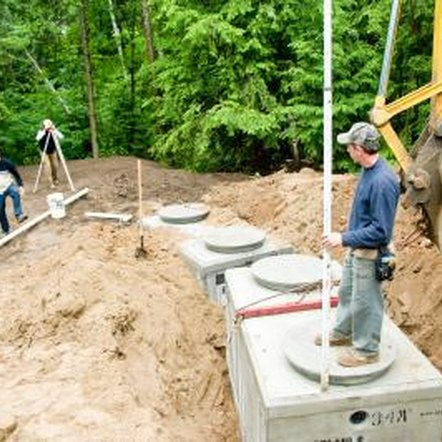 Septic tanks are used when a sewer line is not available.