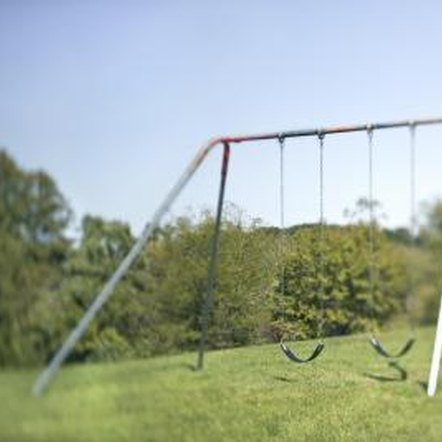 how to stake down a swing set 2