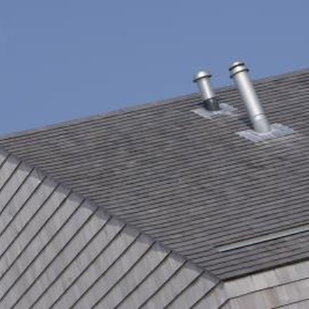 Most houses have vent pipes that exit from the roof.