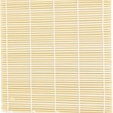 Bamboo placemats add a textural element to a wall.