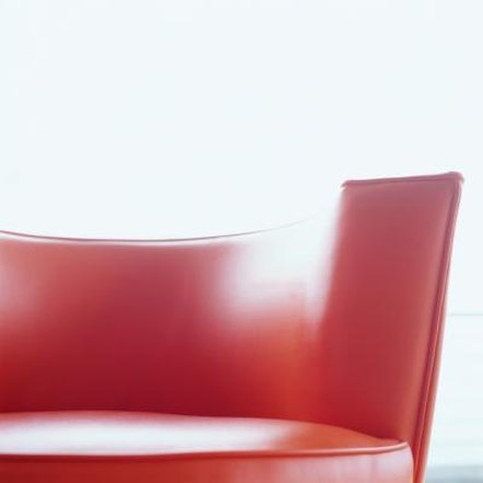 Red sofas bring energy into a room.