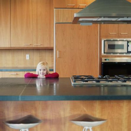 Counter top installation requires multiple cuts to ensure a proper fit.