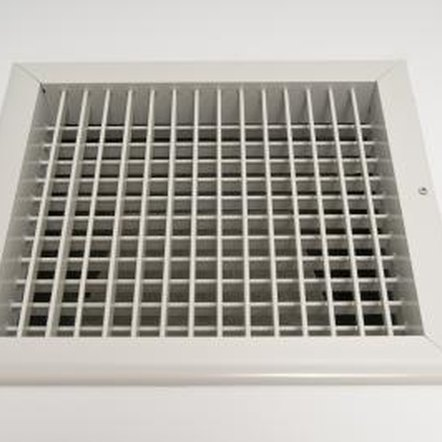 Air is circulated throughout your house via ductwork.