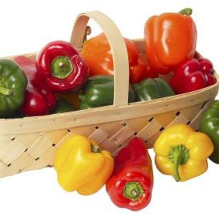 Bell peppers may be ready to harvest when they are green, red, yellow or many other colors.