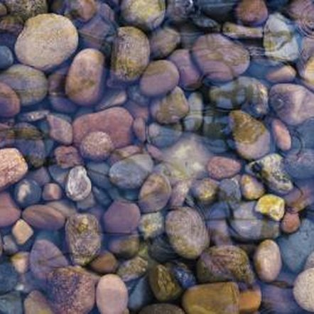 River rocks add visual interest to landscapes.