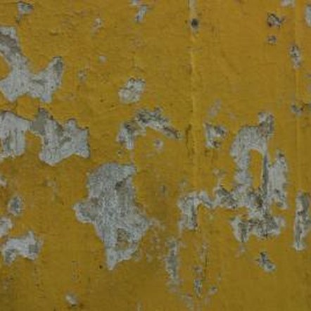 Paint will peel from a concrete surface that is wet or too smooth.