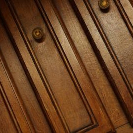 How to bleach cabinets home guides sf gate for Bleaching kitchen cabinets