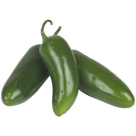 Jalapeno peppers are harvested green, but mature to a red color.