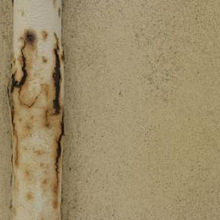 Condensation on uninsulated cold water pipes can rust the pipes.