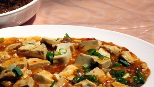 <p>Tofu, made from soybeans, is a standard staple on the vegan diet.</p>