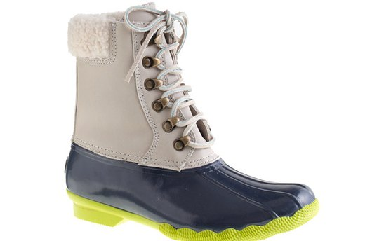 Sperry Top-Sider for J.Crew Leather Shearwater Boots, $150