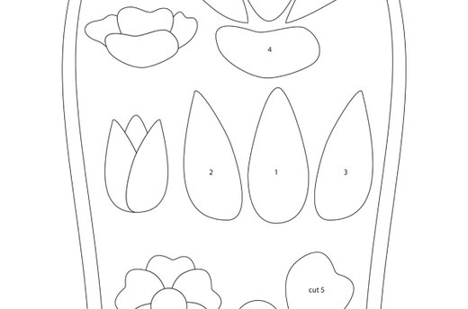 Download the Simple Flower, Tulip, and Daisy Template