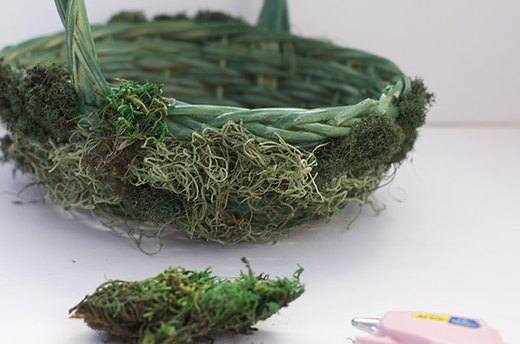 Cover Basket with Moss