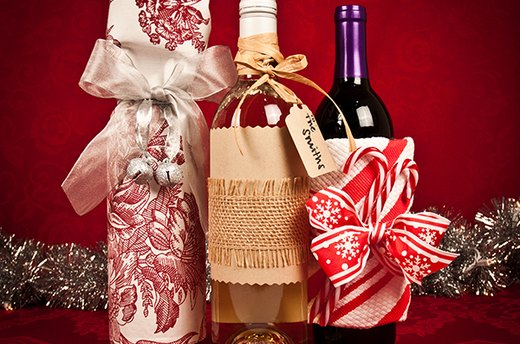 Embellish Wine Bottles for an Easy Hostess Gift