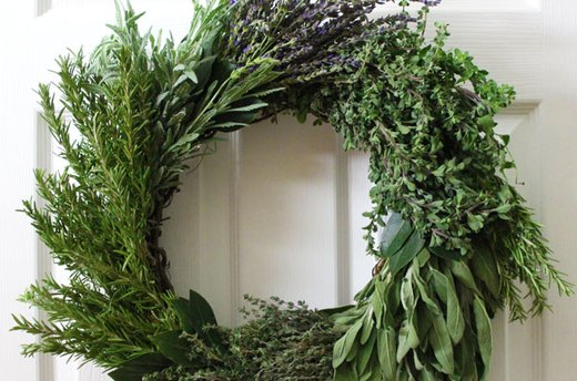 Hang the Herb Wreath and Enjoy