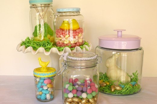 Filling the Jars with Candy