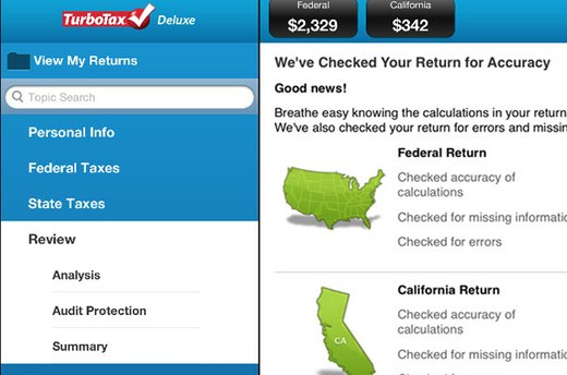 TurboTax for the iPad - Tablet app (iPad; free)