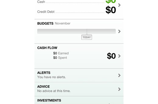 Mint.com Personal Finance (iOS, Android; free)