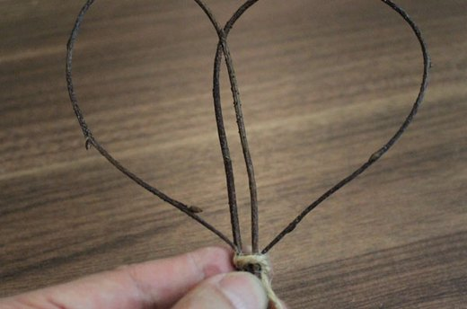 Making Twig Hearts