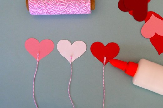 Make the Balloons Using a Heart Punch