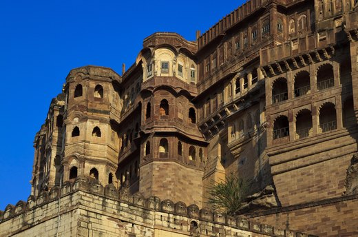Climbing the Battlements of the Mehrangarh Fort