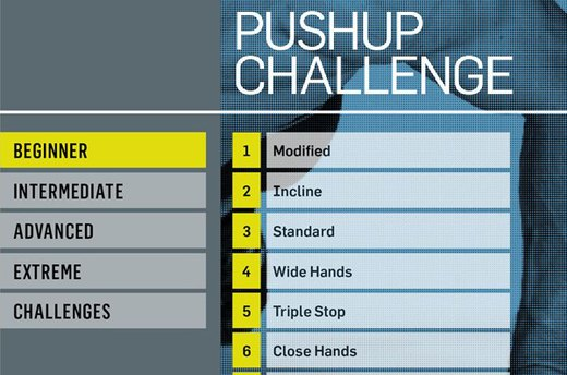 Men's Health Pushup Challenge ($1.99)