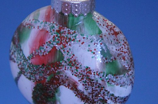 Painted Glitter Ornaments