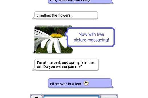 Textfree (iOS, Android; free)