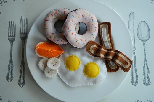 DIY Felt Breakfast Foods