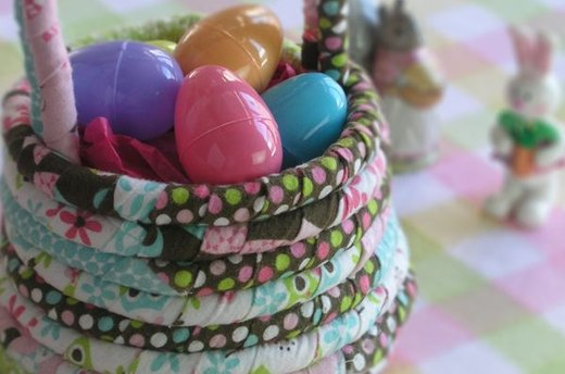 Fabric Rope Easter Basket