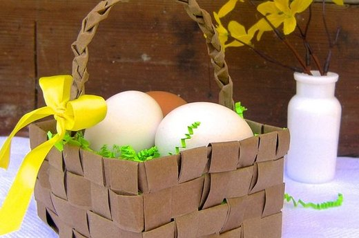 Woven Grocery Bag Easter Basket