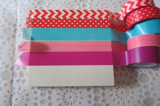 Washi tape box, cover the top