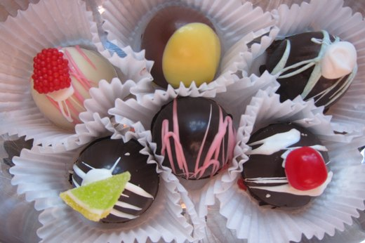 Homemade Chocolate Truffles with White Chocolate Ganache