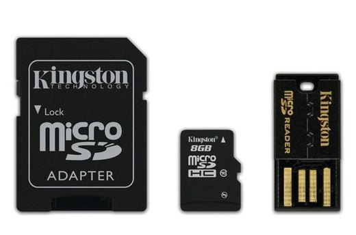 Kingston MicroSDHC Flash Memory Kit ($8.99)