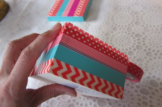 Washi tape box- tape the base
