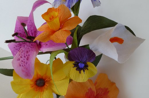 Patterns for Crepe Paper Flowers
