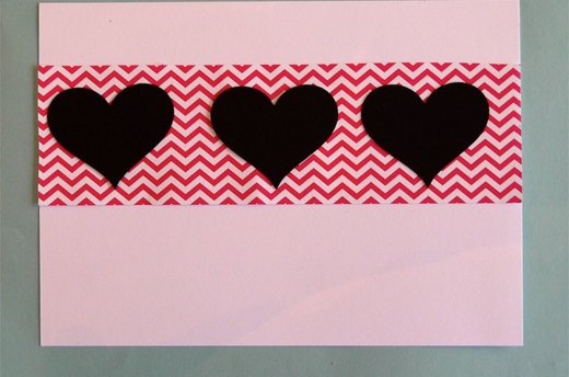 Use Decorative Paper and Hearts