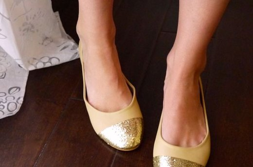 DIY Cap-Toe Flats