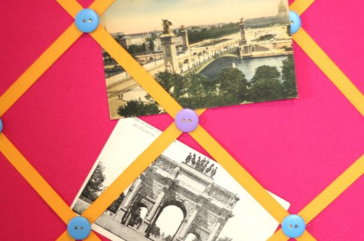 Cork Board Idea #3: French Memo Board
